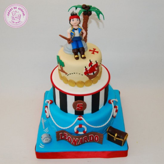 Pin Bolo Pirata Pirate Cake Kids Cakes Cake on Pinterest